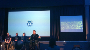 accessibility panel at WordCamp London 2016