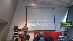 Ben presenting at WordCamp London