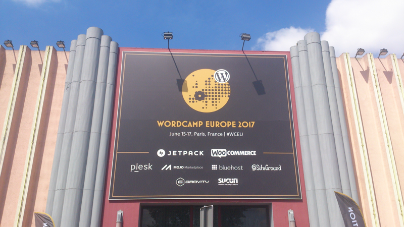 WordCamp Europe 2017 entrance
